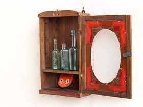 Vintage Painted Glass Cabinet CABS30383 Thumbnail