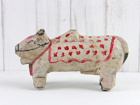 Vintage Painted Temple Cow Thumbnail