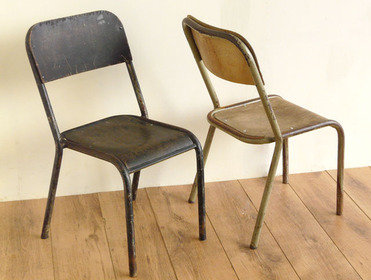 Vintage School Chairs (Pair) Thumbnail