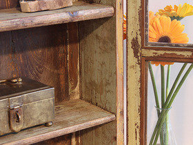 Vintage Teak Glass-Fronted Cabinet (C) Thumbnail