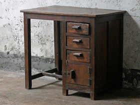 Vintage Teak Office Desk Thumbnail