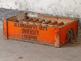 Vintage University Display Crate and Bottles Thumbnail