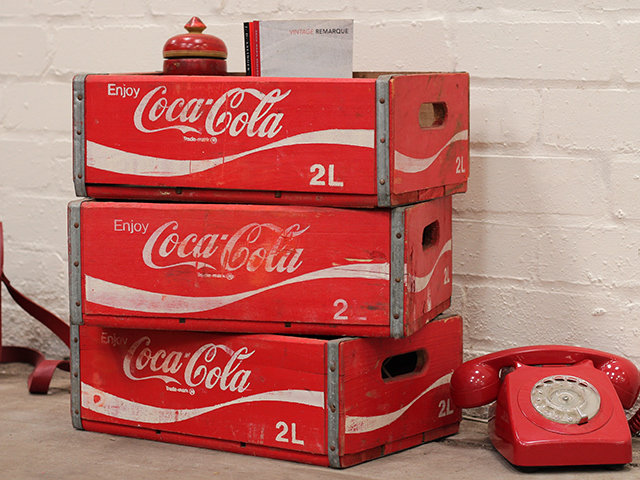 View our  Vintage Coke Cola Crate With Sections from the  Old Wooden Chests, Trunks & Boxes collection