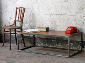 Wood & Metal Industrial Coffee Table Thumbnail