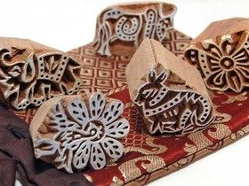 Wooden Animal 5 Printing Block Set Thumbnail