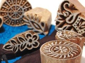 Wooden Printing Blocks 10 piece set Thumbnail