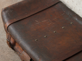 Antique Leather Trunk Thumbnail