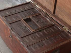 Antique Wooden Trunk Thumbnail