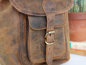 Boho Leather Backpack Mini Thumbnail