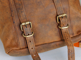 More views of Boho Leather Backpack Mini