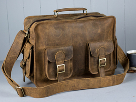 Boys And Girls Large Vintage Leather Flight Bag Thumbnail
