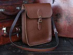 View our Junior Classic Brown Leather iPad Tablet Satchel from the Junior Leather Satchels & Bags collection