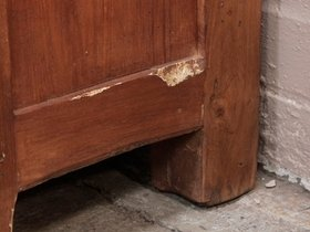 Vintage Teak Double-Drawer Chest Thumbnail