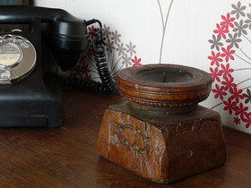Old Wooden Candleholder 729 Thumbnail