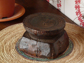 Old Wooden Candleholder 736 Thumbnail