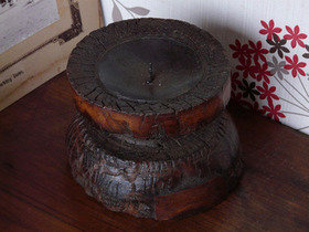 Vintage Wooden Candle Holder 795 Thumbnail