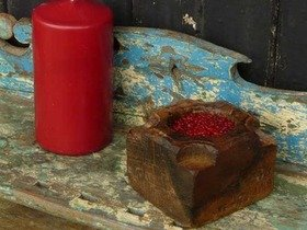 Old Wooden Candleholder 514 Thumbnail