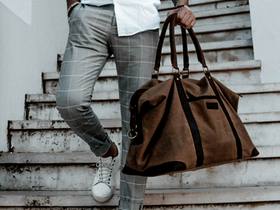 Waxed Canvas Holdall For Men Thumbnail