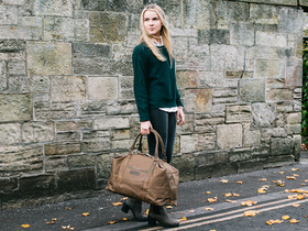 Canvas & Leather Holdall For Women Thumbnail
