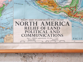Vintage Map of North America Thumbnail