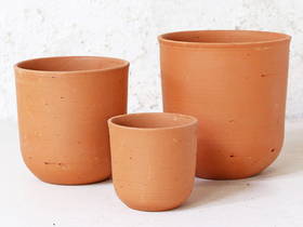 Curved Terracotta Plant Pot - Small Thumbnail
