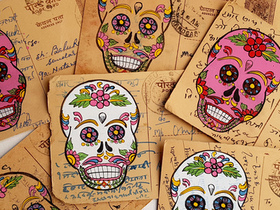 Vintage Postcard - Day Of The Dead Thumbnail