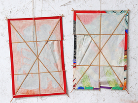 Collection Of Vintage Japanese Kites Thumbnail
