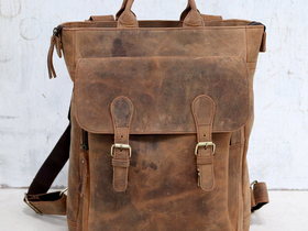 Mens Leather Tote Bag Thumbnail