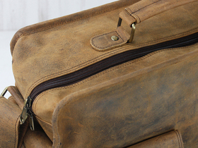 Large Leather Vintage Flight Bag Thumbnail