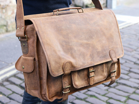 Large  Overlander Mens Satchel Bag – Leather 18 Inch Thumbnail