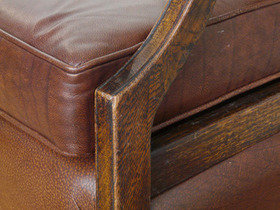 Antique Leather Armchairs Thumbnail