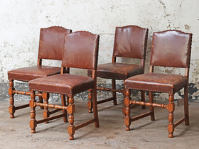 Leather Dining Chairs - set of 4 Thumbnail