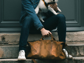 Leather Duffle Bag Thumbnail