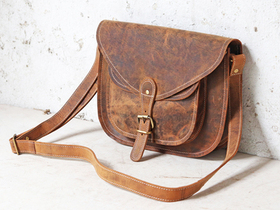 Leather Saddle Bag 12 Inch Thumbnail
