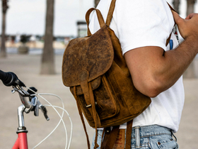 Mens Leather Backpack Mini Thumbnail