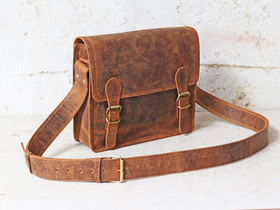 Mini Leather Satchel 11 Inch Thumbnail