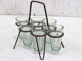 Original Metal Chai Glass Holder With Glasses Thumbnail