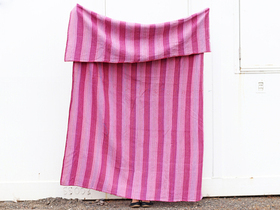 Purple Cotton Bed Cover - Single Thumbnail