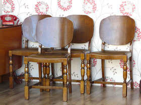 Vintage Dining Chairs Set 2 Thumbnail