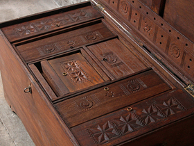 View our  Large Wooden Chest from the  Old Wooden Chests, Trunks & Boxes collection