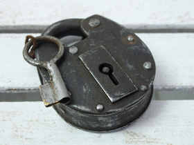 Antique Padlock - Extra Large Iron Thumbnail