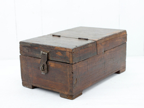 View our  Large Vintage Shaving Box  from the  Old Wooden Chests, Trunks & Boxes collection