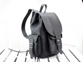 View our  Black Leather Backpack For Men from the  Leather Bags & Satchels collection