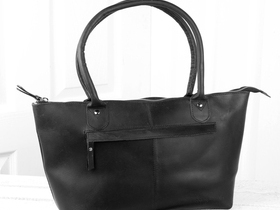 Black Leather Bella Handbag Thumbnail