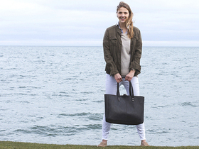 View our  Black Leather Shopper Tote Bag from the  Tote Bags collection