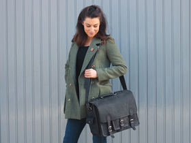 View our Women Black Medium Overlander Leather Satchel from the Women Leather Weekender Bags collection