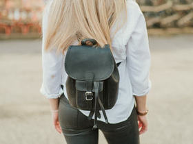 View our  Black Mini Boho Leather Backpack from the  Leather Bags & Satchels collection