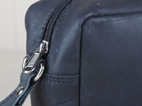Black Leather Wash Bag Thumbnail