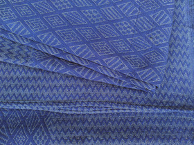 View our  Indigo Geometric Handloomed Blanket from the  Soft Furnishings collection