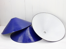 View our  Blue Vintage Enamel Lampshade from the  SALE collection